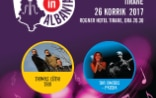 Poster for the International Jazz Festival in Tirana showing the Swiss trio of Thomas Lüthi