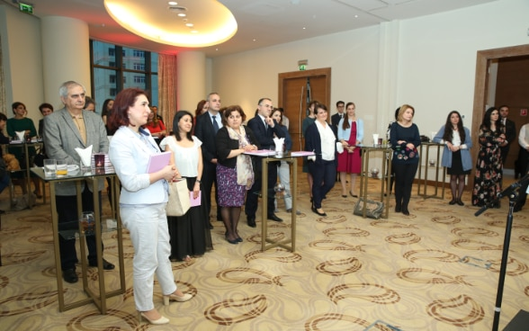 The audience of the event included people from local and international organizations and businesses.