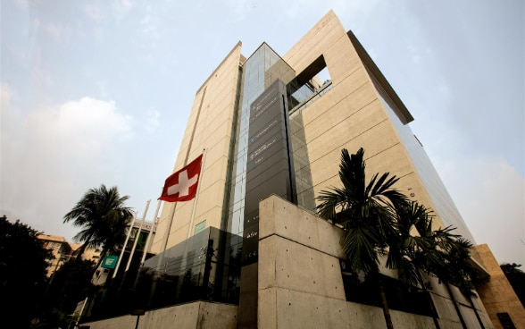 The embassy premises in Dhaka