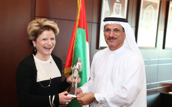 Meeting of the Swiss Secretary of State for Economy with the UAE Minister of Economy