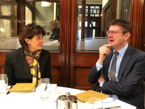 Federal Councillor Doris Leuthard with Business Secretary Greg Clark