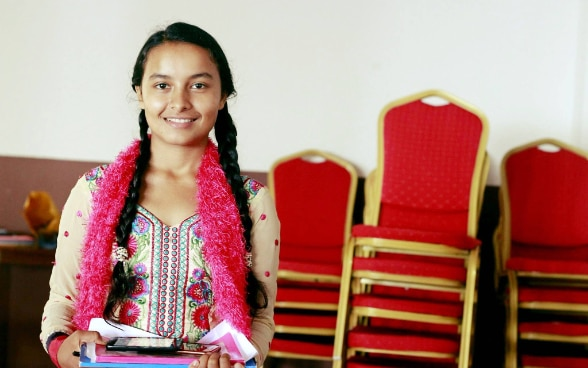 Manashi Acharya, a young woman from Udayapur
