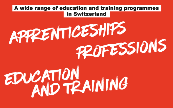 "Logo: written in black and white: ""Apprenticeships, Professions, Education and Training."""