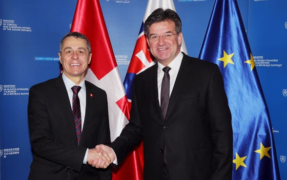 The head of the FDFA, Ignazio Cassis meets with Slovak Minister of Foreign and European Affairs Miroslav Lajčák