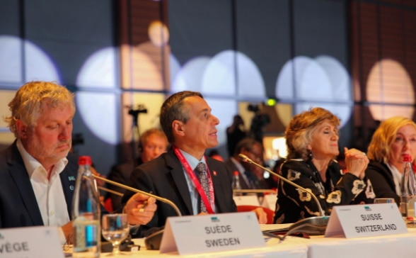 Lyon – Pledging conference for the Global Fund to Fight AIDS, Tuberculosis and Malaria – Ignazio Cassis announces an increase in the Swiss contribution