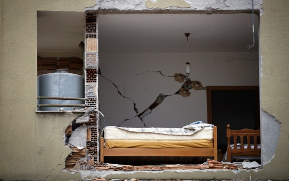 Thousands of buildings were damaged or destroyed during the 26 November earthquake in Albania.