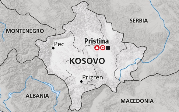 Map of Kosovo