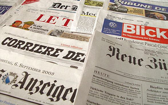 Swiss newspapers in the four national languages