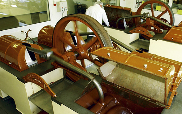"A ""conche"" machine used in chocolate-making"