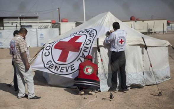Medical tent in a camp in Iraq