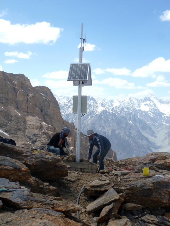 Installation of early warning system in Shugnan, GBAO