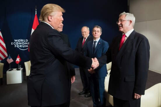 U.S. President Donald Trump and Ambassador of Switzerland to the United States of America Martin Dahinden