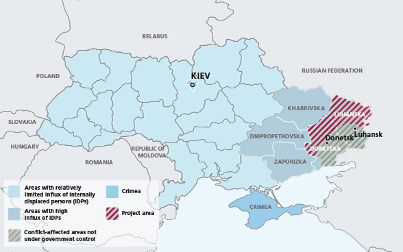 Map of the Ukraine