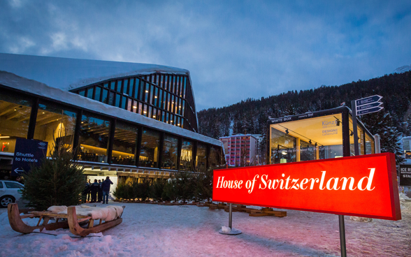 The House of Switzerland at the World Economic Forum 2019 in Davos.