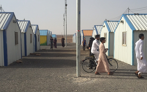 View of the Azraq refugee camp in Jordan.