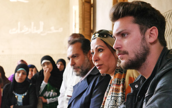 Bastian Baker reaches out to musicians and young people in Egypt who are working to promote the Nile ecosystem. © SDC